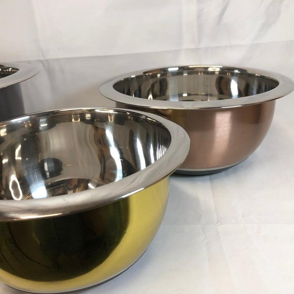 Stainless Steel 4-Piece Mixing Bowl Set